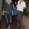 May 3rd 2012 Exclusive Thursday night Chris Martin & Gwyneth Paltrow eating dinner with friend Cameron Diaz at Spago's restaurant in Beverly Hills. Chris left the restaurant first & jumped in the back seat of the car while Cameron showed off her b